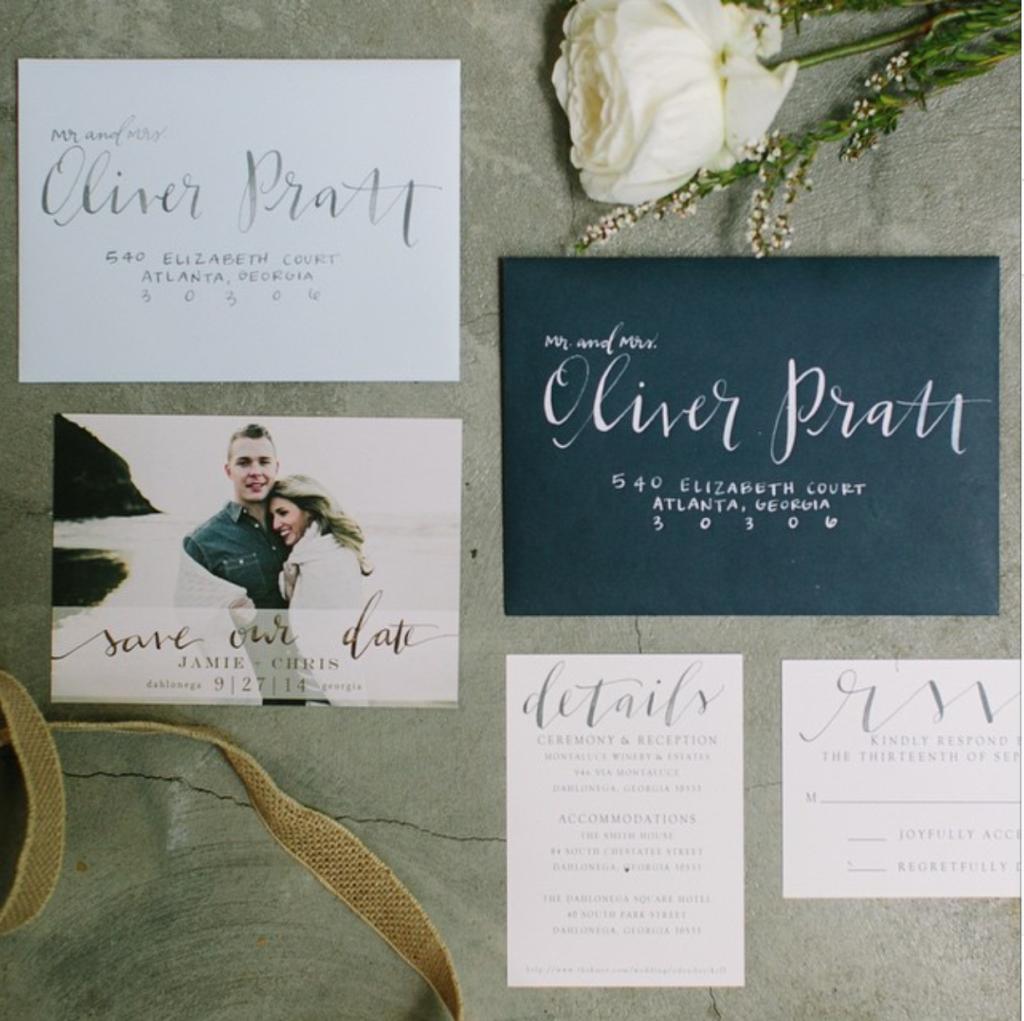 Jenn Gietzen, Calligrapher, Atlanta, Lettering, Artist, Wedding Invitations