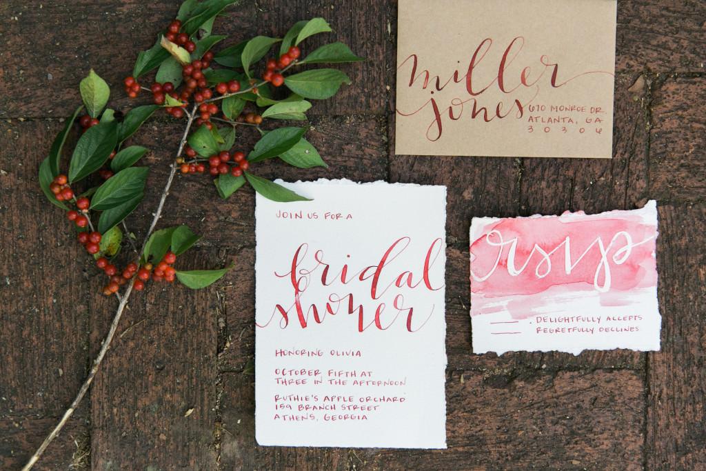 Jenn Gietzen, Calligrapher, Atlanta, Lettering, Artist, Bridal Shower