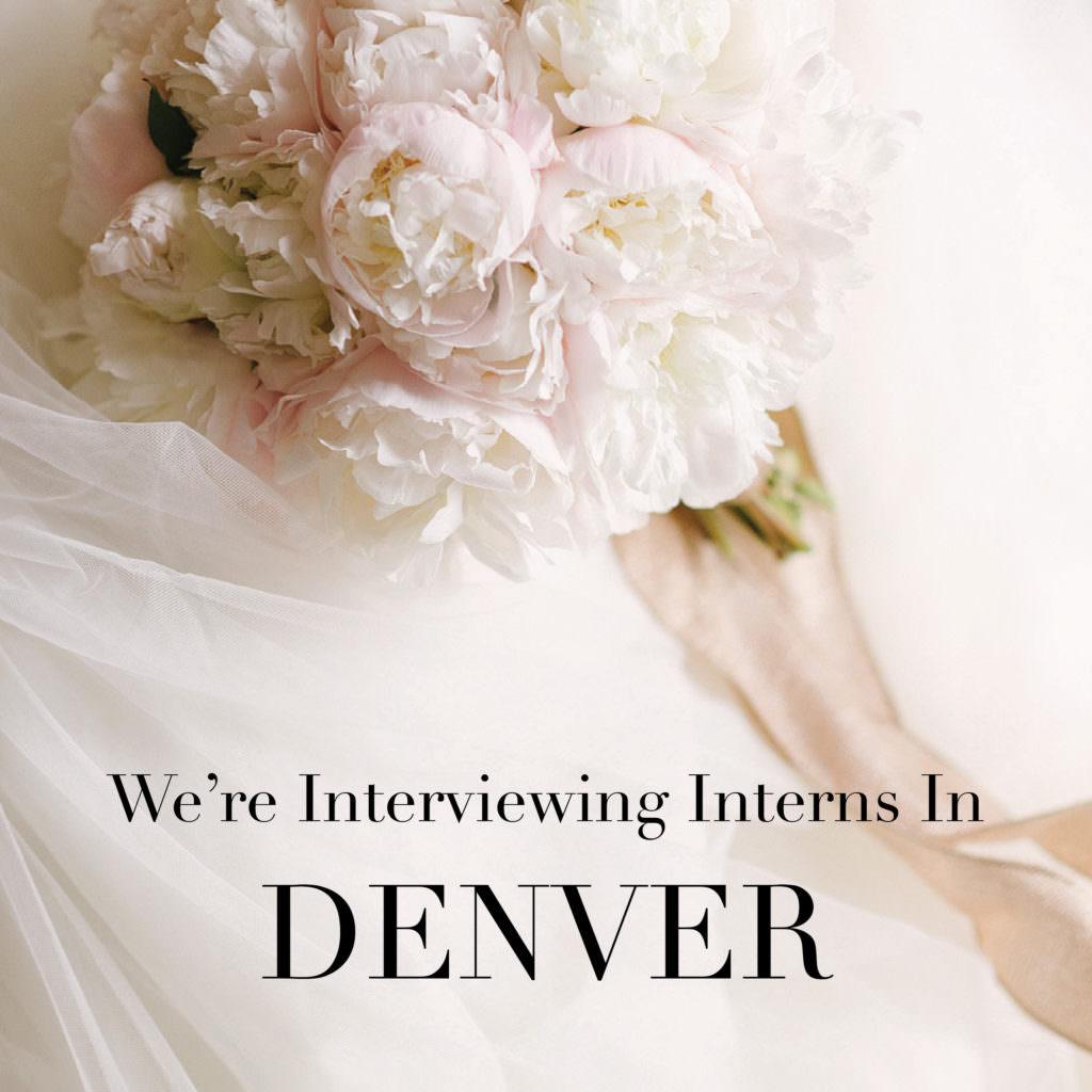 Chancey Charm Denver is Interviewing for Interns Luxury Wedding