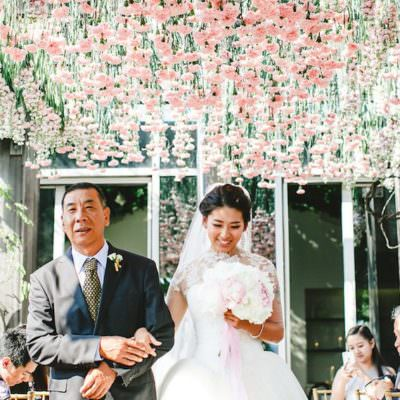 Floral Filled NYC Rooftop Wedding | Featured on Brides