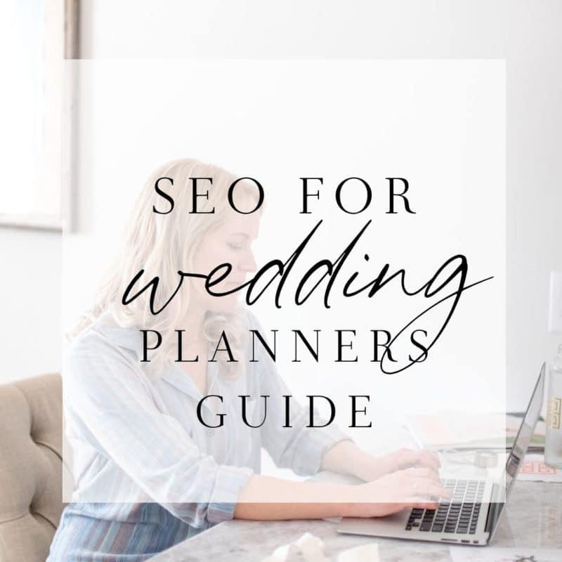 seo for wedding planner guide