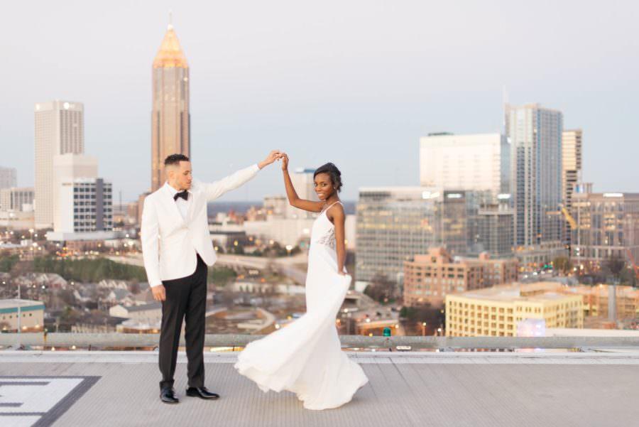 Atlanta Rooftop Wedding Inspiration, Featured on The Southeastern Bride, Atlanta Wedding Design, Atlanta Wedding Vendors, Atlanta Rooftop Wedding Venue, Atlanta Wedding Planner, Atlanta Wedding Coordinator, Atlanta Modern Wedding, Atlanta Wedding Inspiration