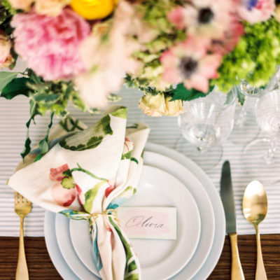 Fun + Colorful Summer Rehearsal Dinner | Featured on Style Me Pretty