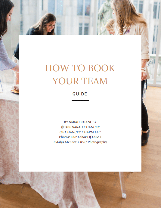 wedding planner team, how to book your team, how to book other wedding planners