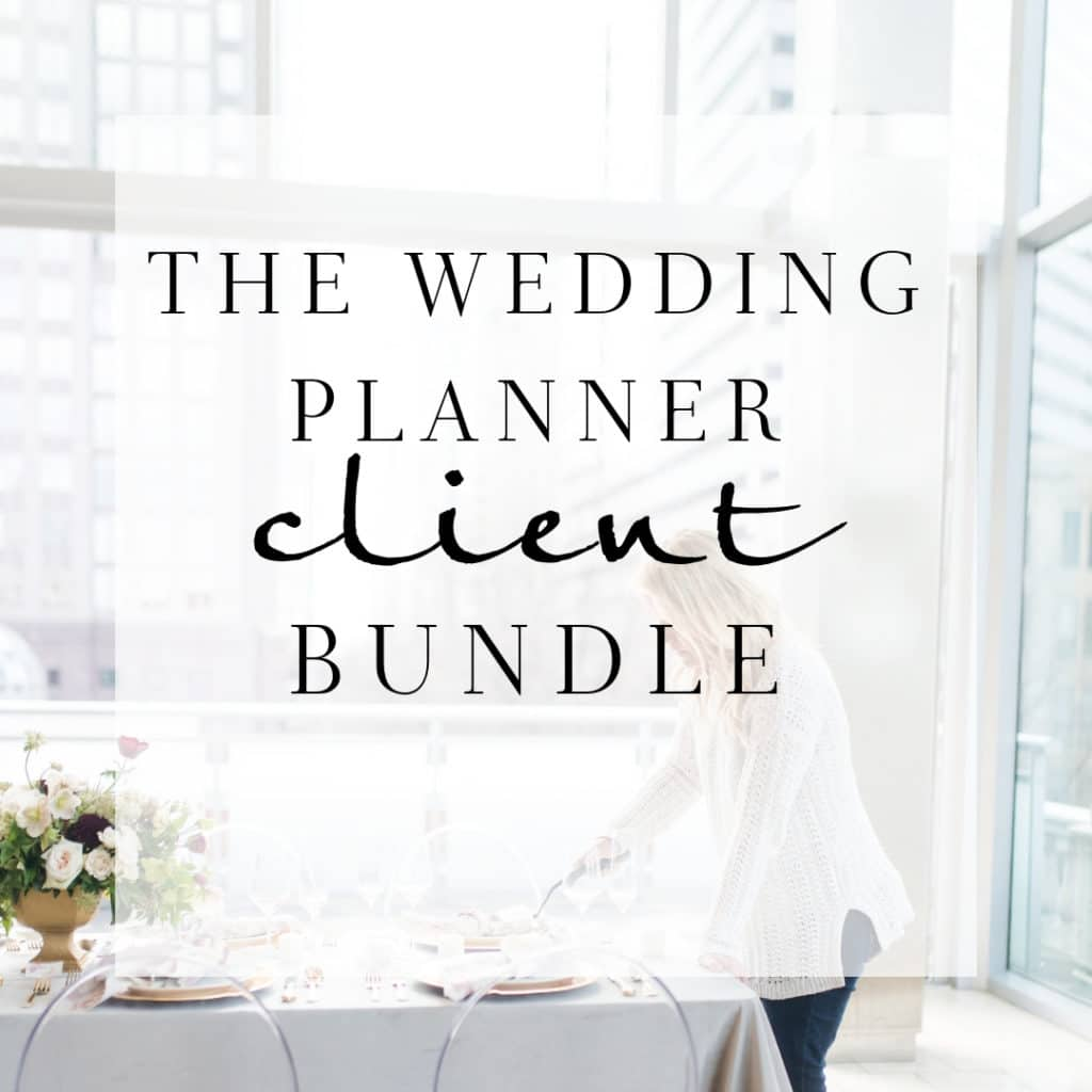 How To Start Planning A Wedding.The Wedding Planner Client Bundle