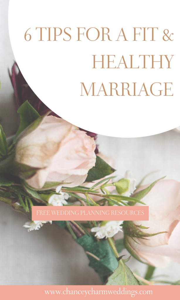 Whether you're sweating for the wedding or just looking for inspiration on how to stay fit and healthy as you transition from bride-to-be to newlywed, the Chancey Charm team is sharing tried and true tips for couples to maintain a fit and healthy marriage. #marriagetips #couplegoals #weddingplanningtips