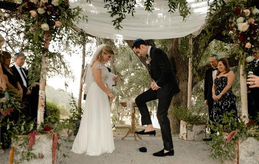 Couple at a Jewish Wedding Celebration