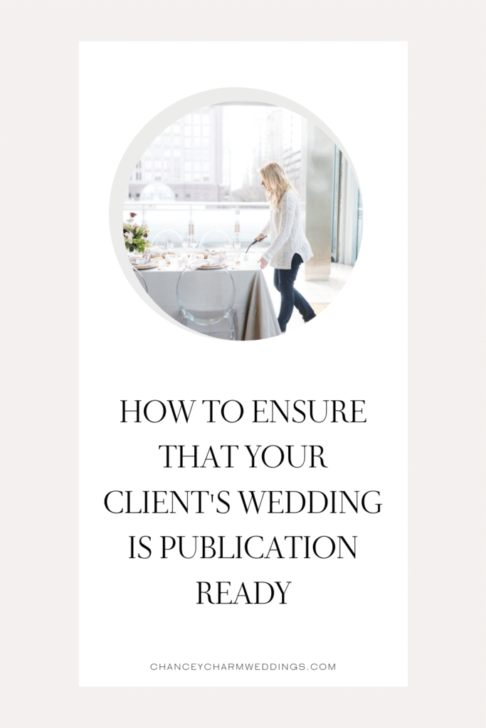 Wondering how to get your client's wedding published? This new video training for wedding planners explains the steps to take to ensure the wedding is publication ready!