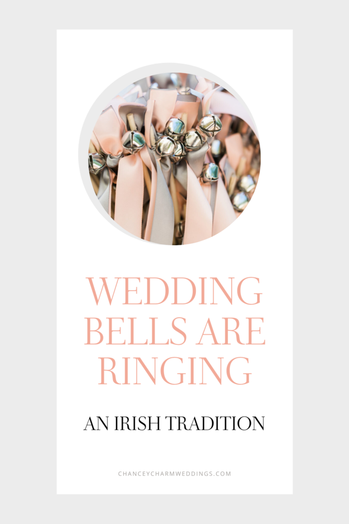 Giving a bell as a wedding gift to your guests is a fun Irish tradition. Alternatively you can have your guests ring them as you walk down the aisle. A unique and cute wedding exit idea! We are sharing a few of our favorites here. #weddingtraditions #weddingbells #weddingexit