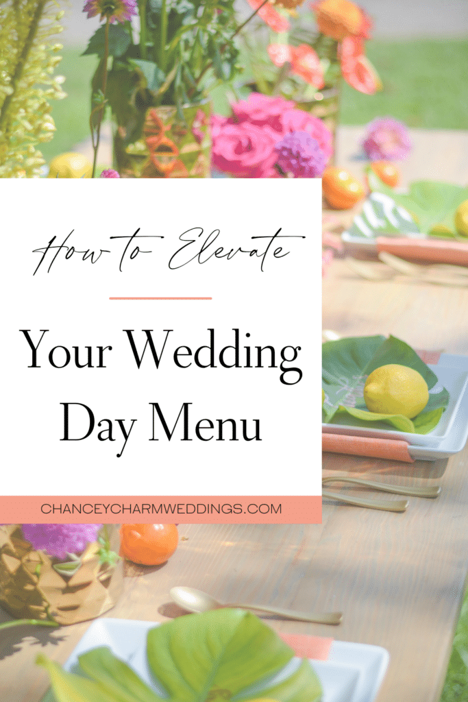 From the sweet to the savory, here's 4 ideas to elevate your wedding day menu.