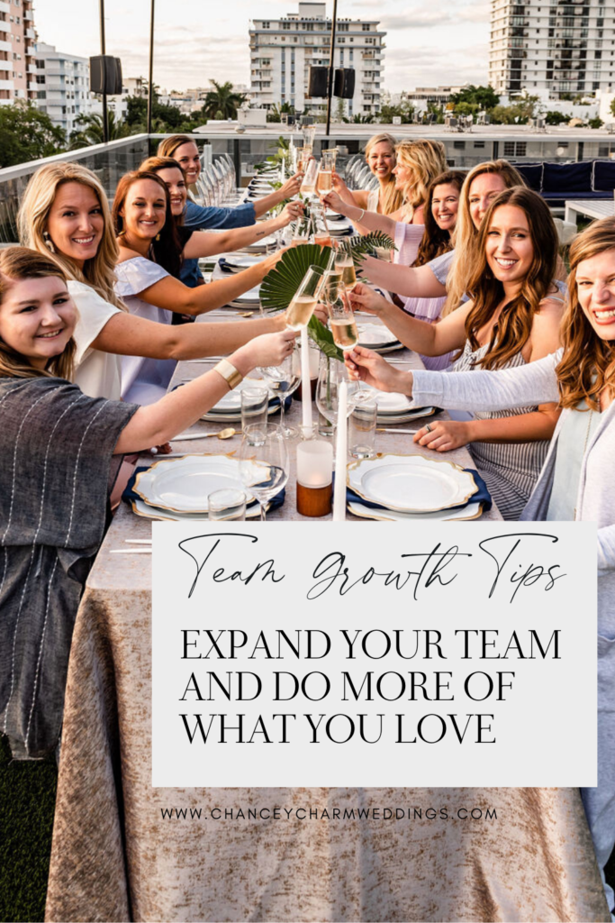 How to Expand Your Team and Do More of What You Love. Sarah Chancey is sharing her best tips for team growth and how she expanded to 13 locations. #Teamgrowth #Creativebusinesstips #Chanceycharm
