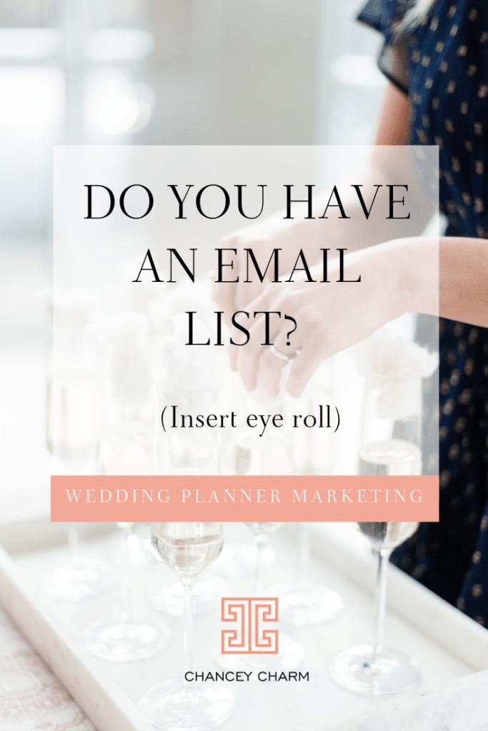 wedding planner marketing, wedding planner email marketing, how to start a wedding planner business