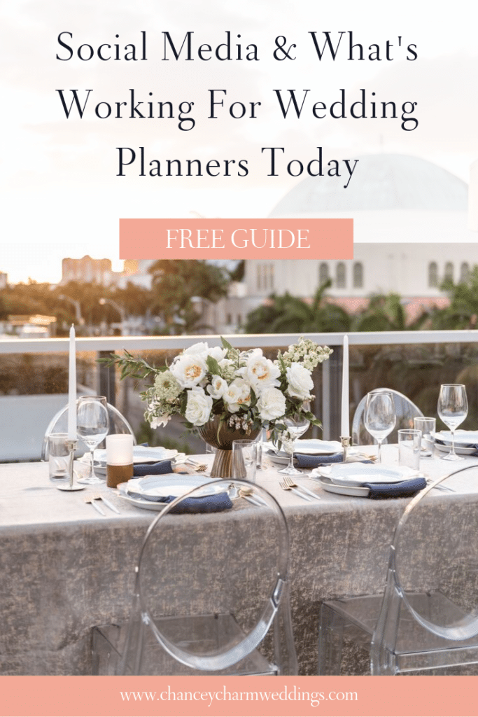 In my simple, FREE guide I'm sharing my wedding planner social media strategy - the same strategy that helped her gain over 14k followers. #weddingplannermarketingtips #weddingplannermarketing #socialmediaforweddingplanners