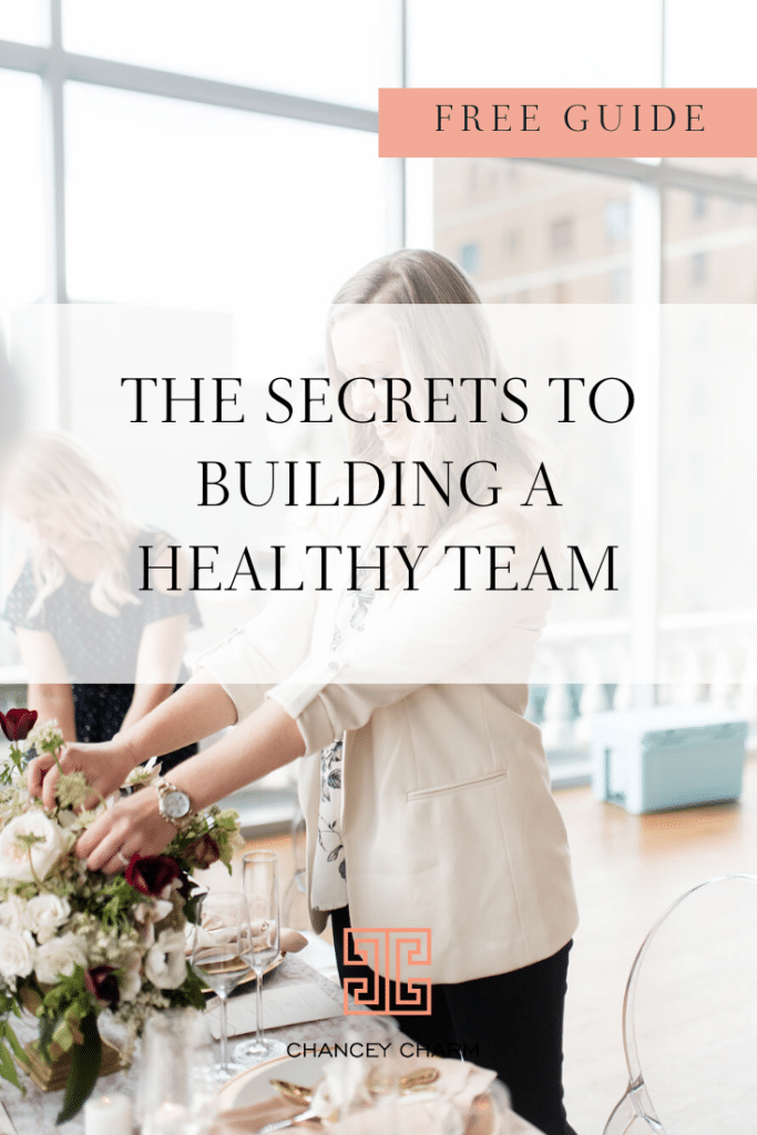 In my new free team-building guide, I'm giving you 3 Secrets to building a healthy team that will help you live your best life today! #teambuilding #howtobeaweddingplanner #weddingplannerbusiness