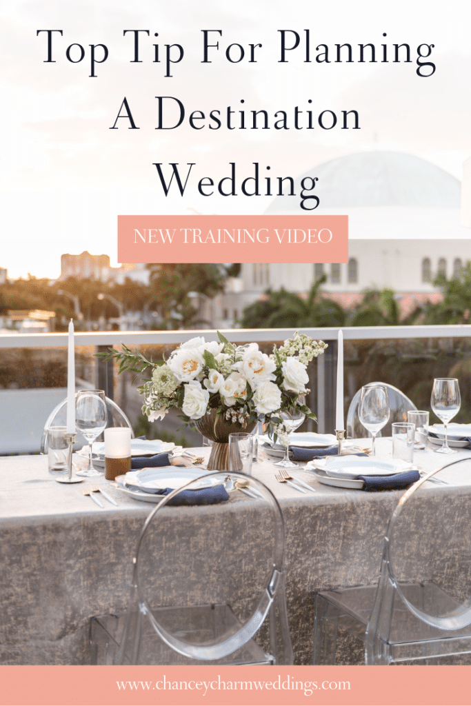 Top Tip for planning a destination wedding