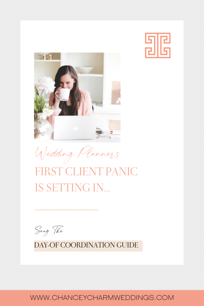 I'm sharing my Day Of Coordination Guide For Wedding Planners, as the resource I wish I had at my fingertips as I started booking my first clients.