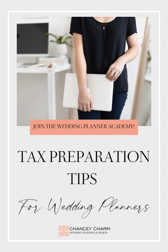Tax preparation tips for wedding planners. It's that time again, time to get your taxes in order for your wedding planner business. I'm happy to share and refer my accountant and bookkeeper who help keep my finances in order!