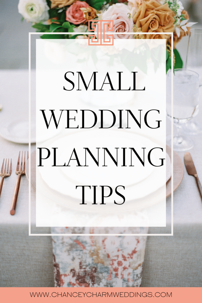we're talking all things intimate weddings! Whether a small wedding is your dream wedding or you're considering keeping your guest list small to make your budget go further, we're rounding up our top tips from Chancey Charm Wedding Planners + debunking some myths about small weddings.