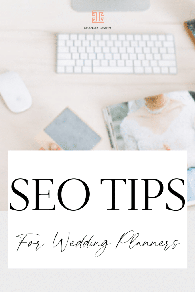 Sarah Chancey is sharing 2 SEO tips for wedding planners plus sharing a resource to help your site + services be found online by the target client you're hoping for.