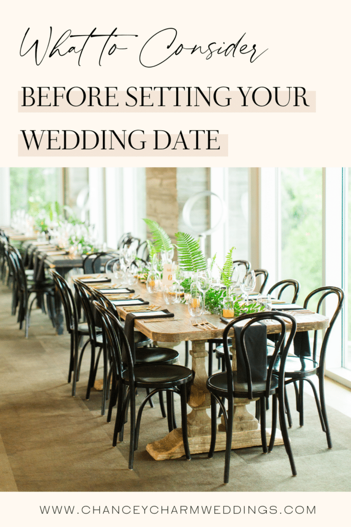 Our destination wedding expert, Liz Ise, leads a conversation with the team about the 4 key components you need to consider before setting your wedding date.