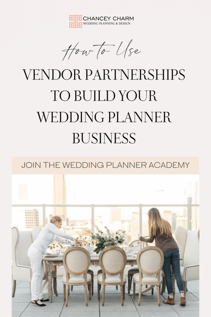 We are discussing the importance of vendor partnerships in your wedding planning business. Plus get access to a marketing guide, a simple, proven system for starting your wedding planner business marketing with clarity.