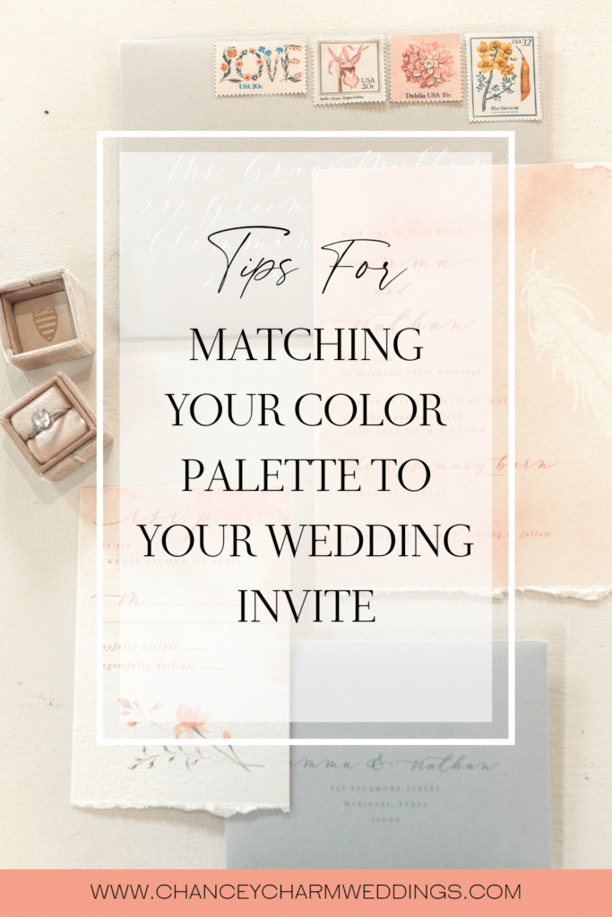 We are sharing our top tips for matching your color palette to your wedding invite, plus tips for working with a calligrapher.