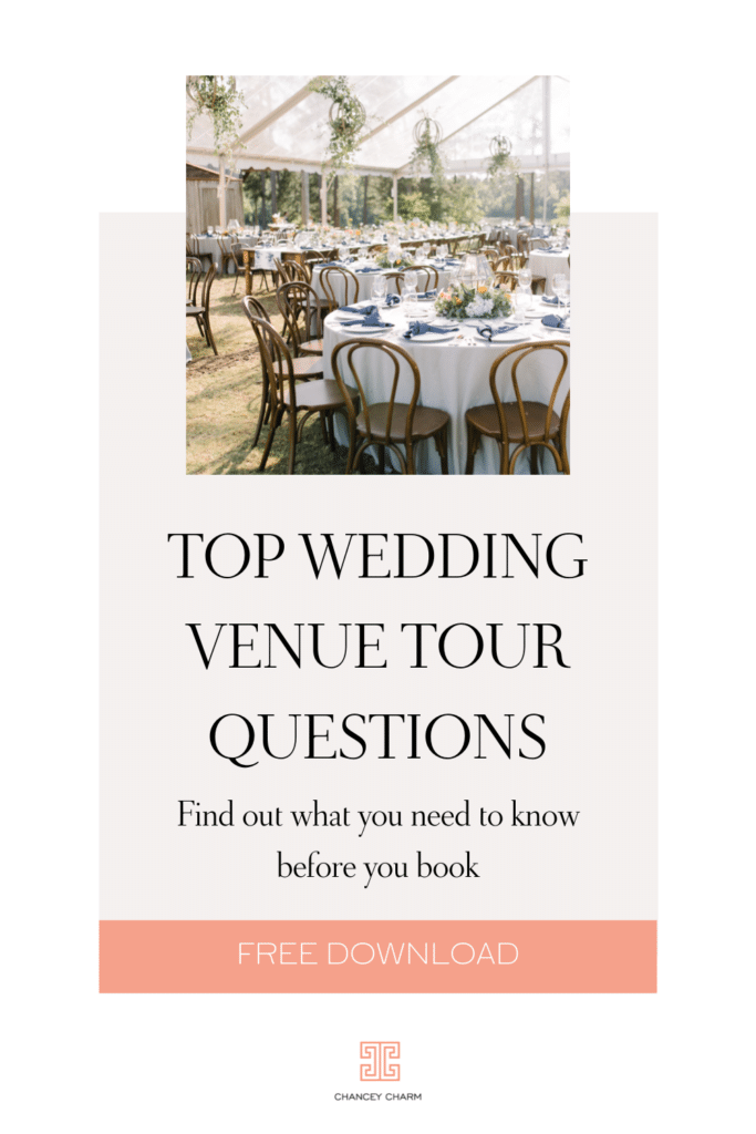 There are so many important aspects to think about before booking a wedding venue so the Chancey Charm team have put together 7 important questions to prompt your conversations during the venue tour.