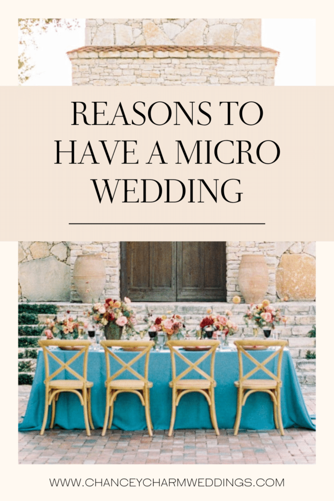 Chancey Charm Houston Wedding Planner is discussing the reasons why we are loving micro and intimate weddings and how this can be a positive for our couples
