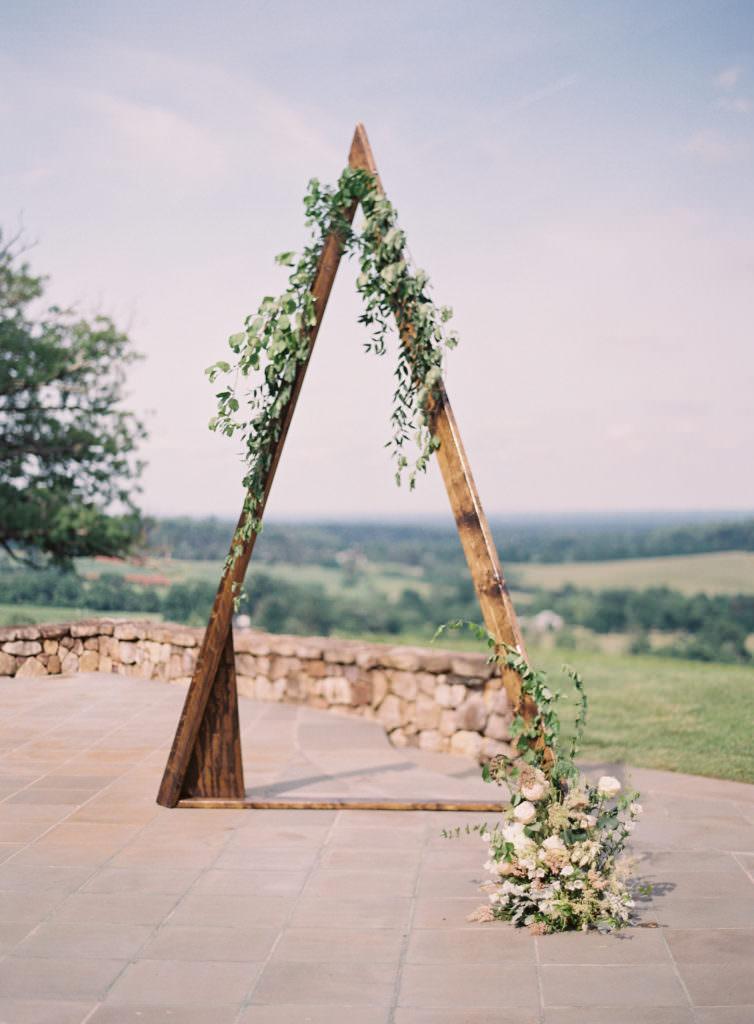 Triangular Arch with florals
