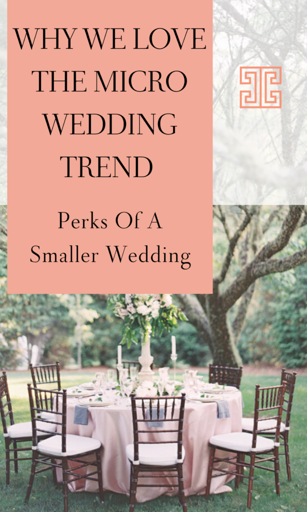 Couples are now looking at smaller, intimate weddings for 2020. In today's post we are sharing some inspiration and guidance for planning a micro wedding. #microwedding #intimatewedding #weddingplanningtips #chanceycharm