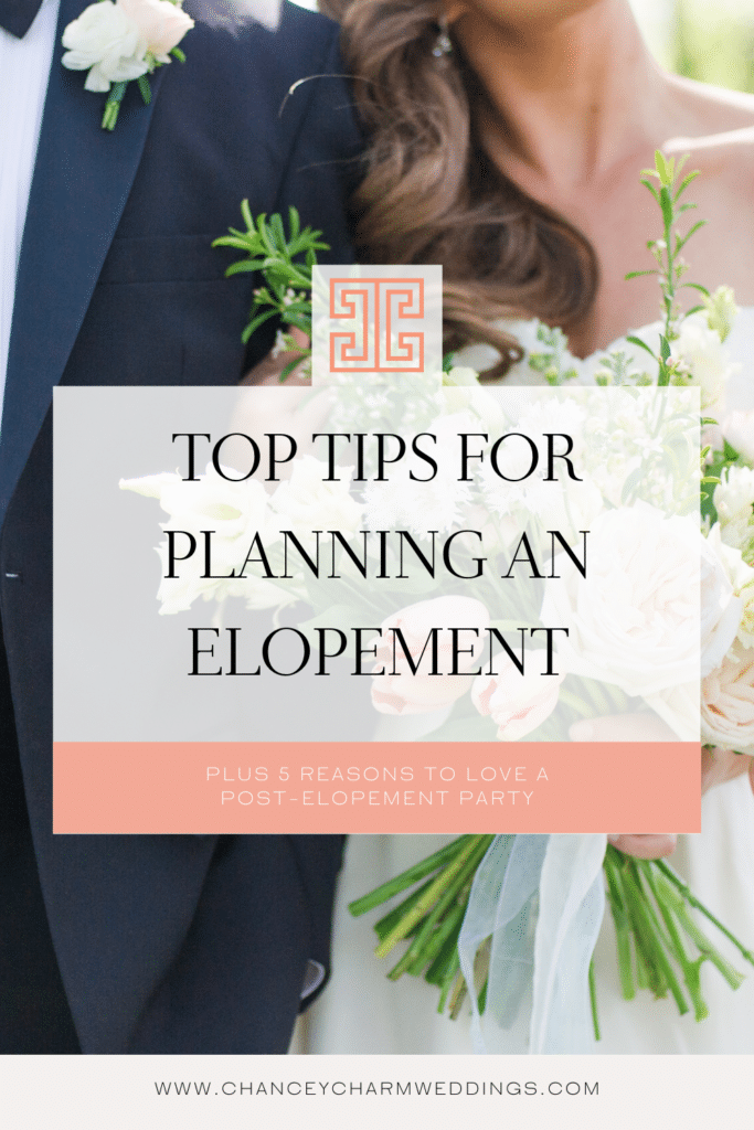 Elopement planning tips, plus why we love a post elopement celebration
