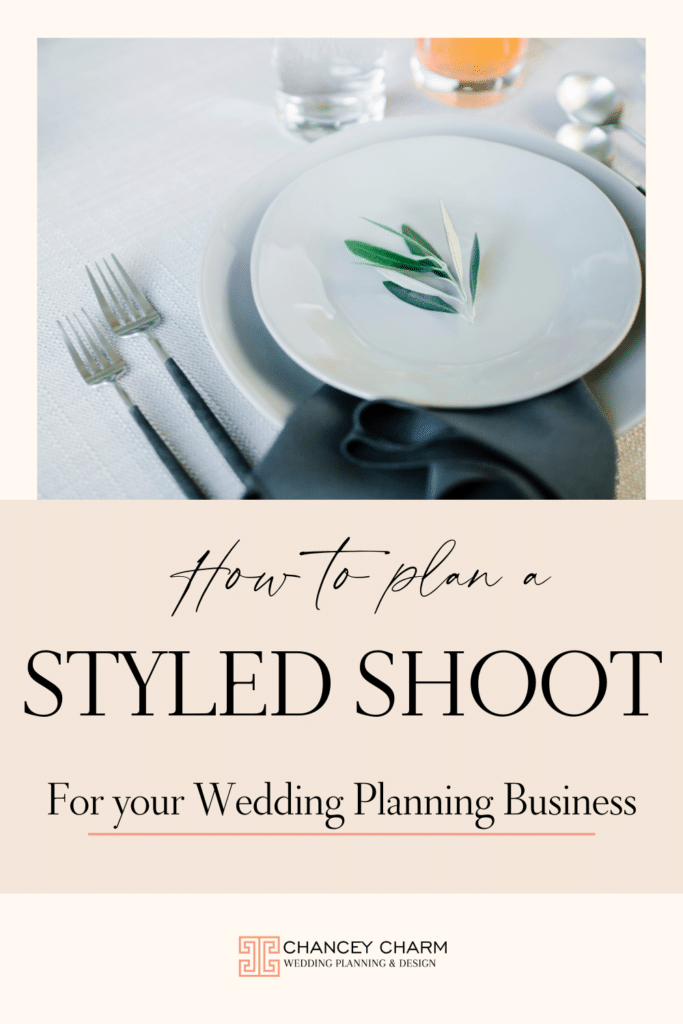 Learn how to plan and execute a styled shoot as a wedding planner. Plus get access to the Styled Shoot Guide. #styledshoot #styledshootguide