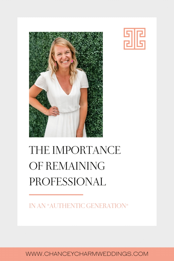 After years in the luxury wedding industry, Sarah discusses her thoughts on remaining professional on social media and how it will get you a lot farther with your dream client.