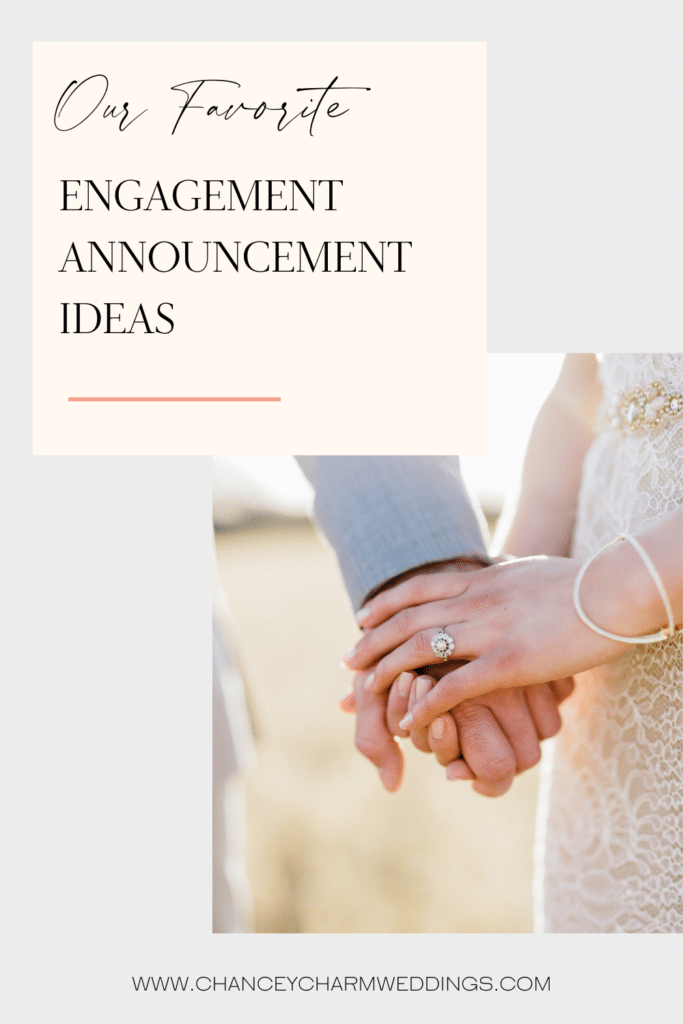 """The Chancey Charm Team is diving into a list of our very favorite engagement announcement ideas, and hope you'll find one that says """"we're tying the knot!"""" in a way that represents the two of you best!"""