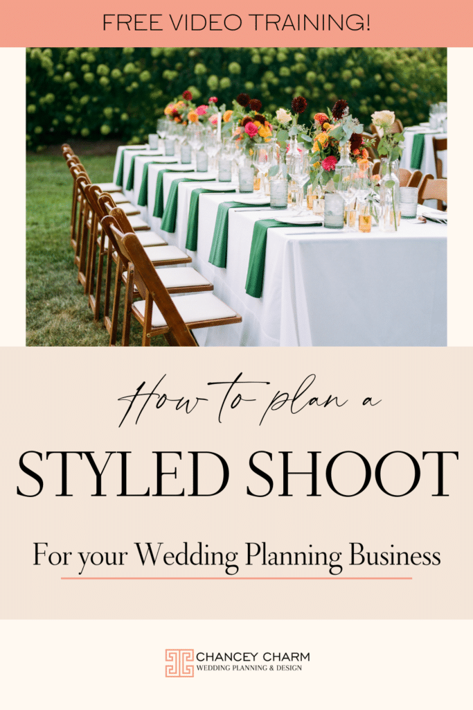New free training video: The most important steps for planning a styled shoot that will create images to build your portfolio and attract your ideal client.