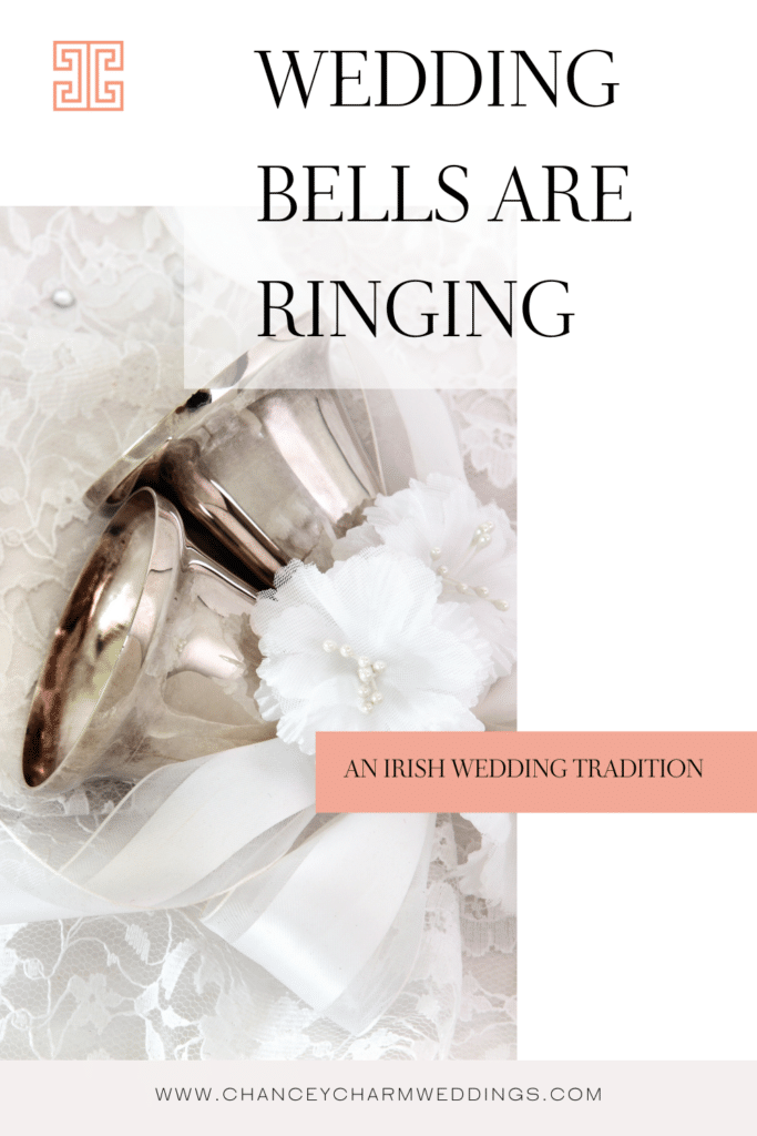 Giving guests wedding bells to ring is a great alternative to confetti as a wedding exit idea.