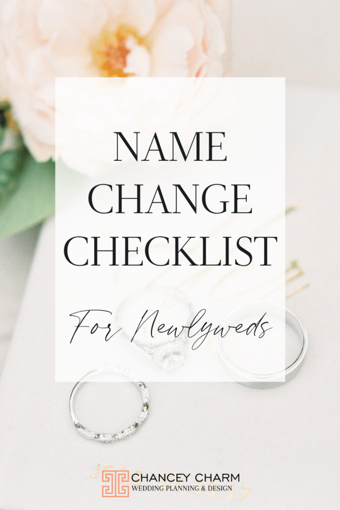 If you're planning on legally changing your name after your wedding, it's important to make sure you change your name everywhere to avoid any missteps with paperwork or travel in the future. We have created a useful name change checklist for newlyweds to ensure you don't miss anything!