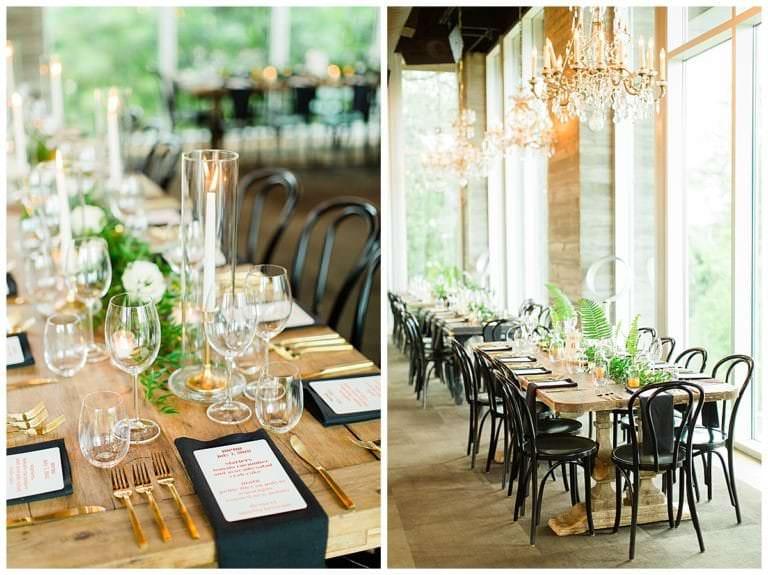 Indoor wedding reception at The Dunlavy