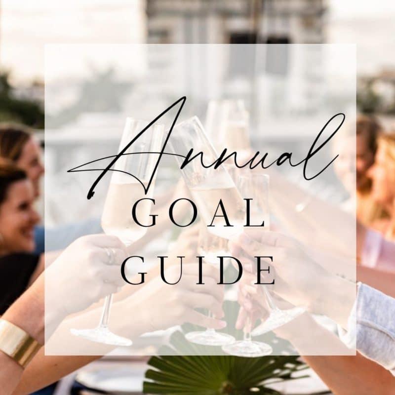 annual wedding planner goal guide