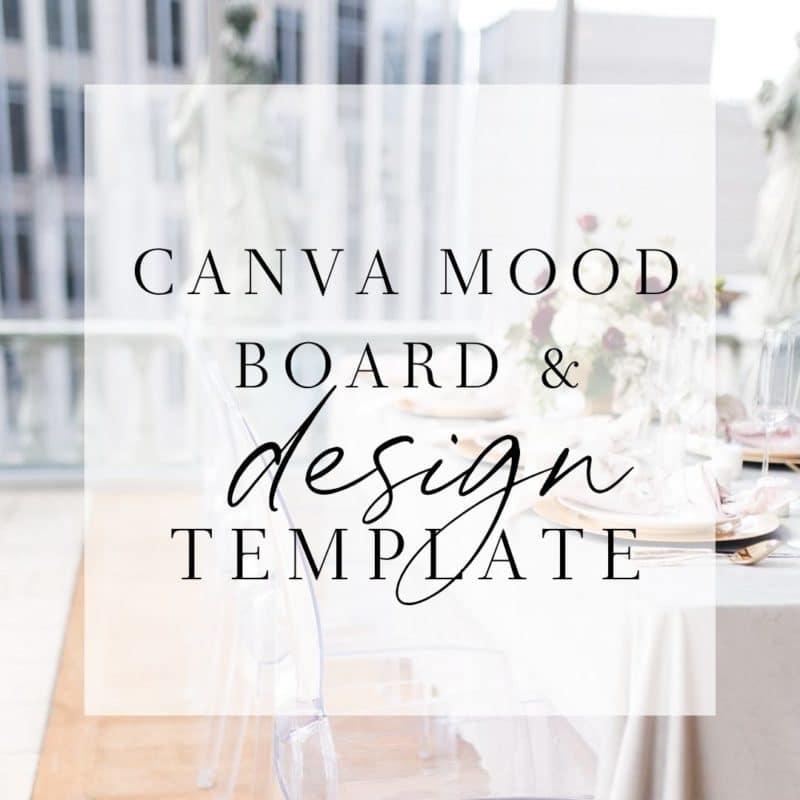 wedding planner mood board template