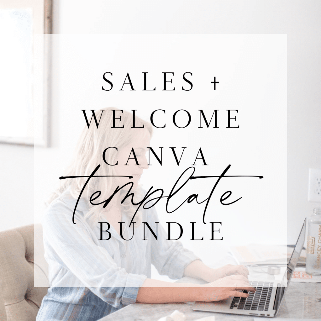 Sales + Welcome Canva Template Bundle