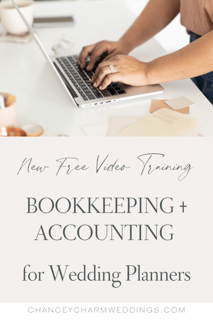 New video training with Tiffany from Bastian Accounting. She is giving her best advice on bookkeeping and accounting for wedding planners