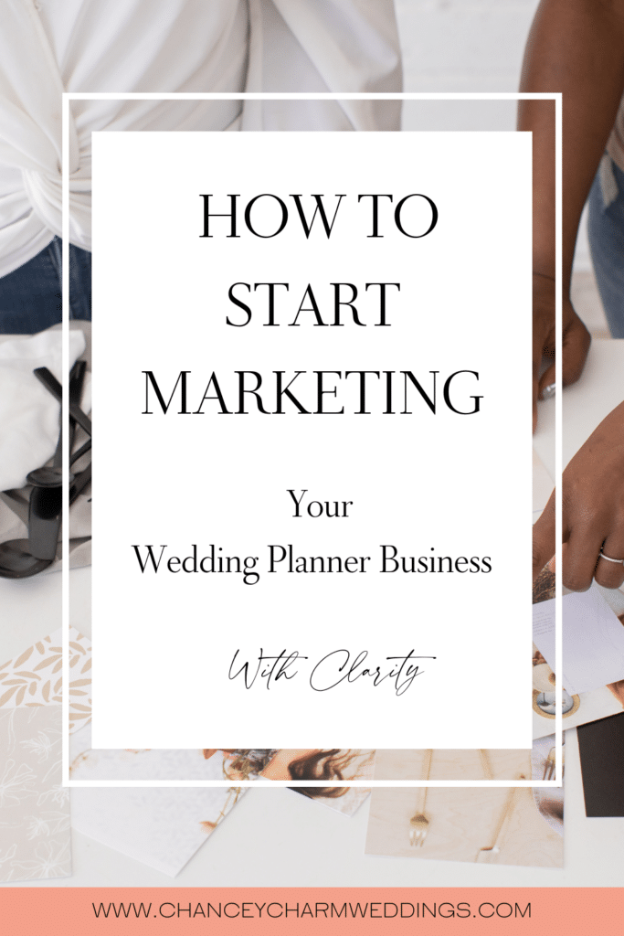I am excited to share access to my guide, How To Start Marketing Your Wedding Planner Business With Clarity. Through a simple, proven system, you'll define your vision statement, target client and get a process in place for building your brand with your target client in mind.