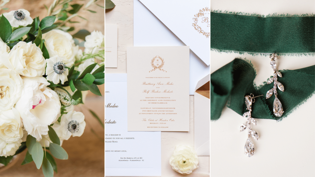 Invitation Suite for The Clubs at Houston Oaks Wedding
