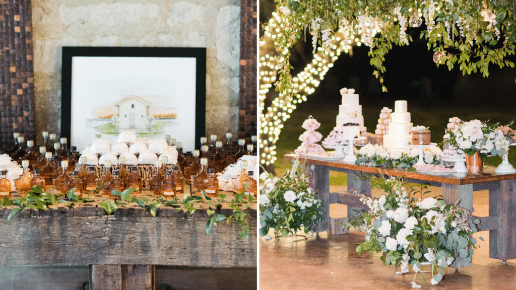 Desert table at The Clubs at Houston Oaks Wedding