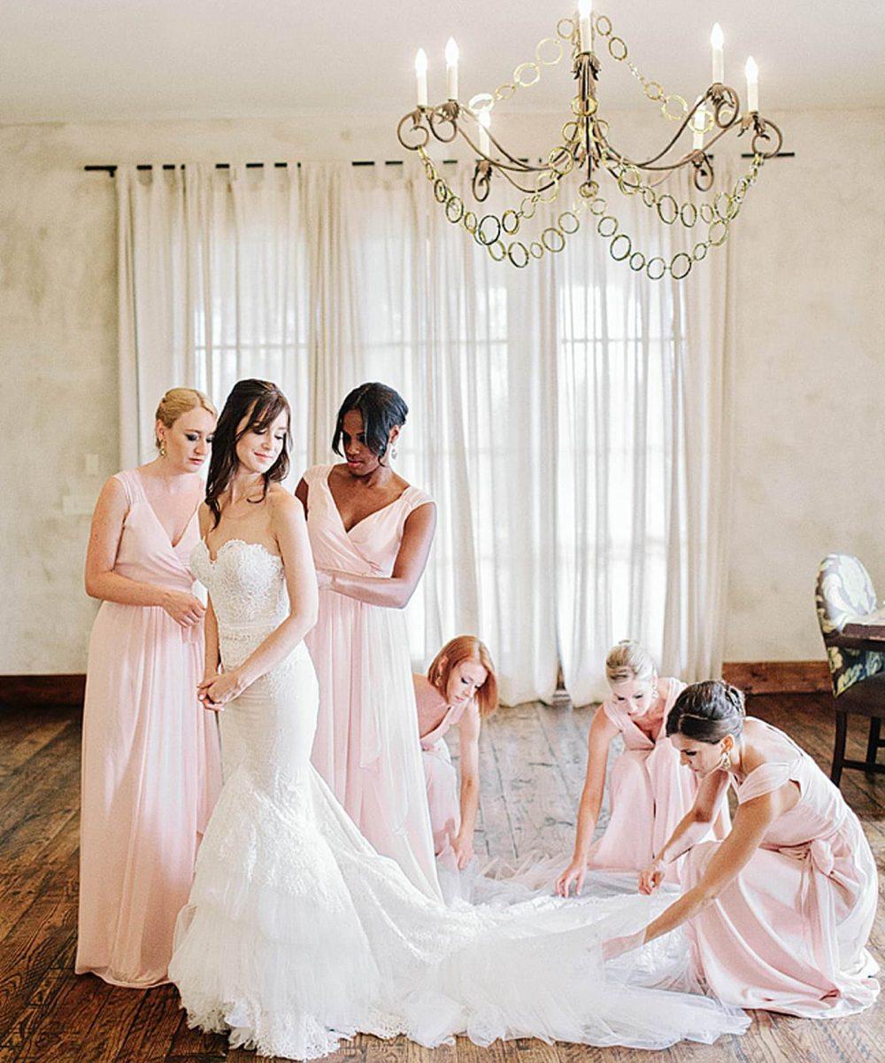 bride-bridesmaids-wedding-day-gown