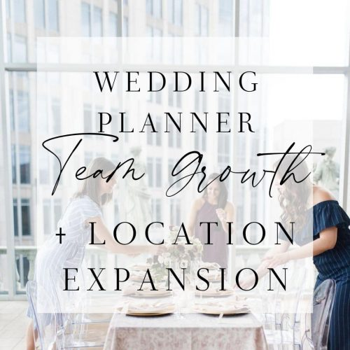wedding planner team growth guide and location expansion
